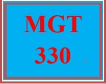 MGT 330 Week 2 Management Planning