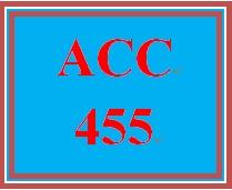 ACC 455 Week 5 Team Assignment, Part 3