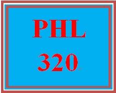 PHL 320 Week 3 The Planning Process