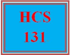 HCS 131 Week 5 Preparing for Working in Teams