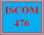 ISCOM 476 Entire Course