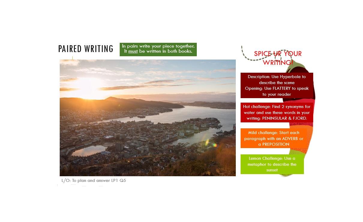 Creative Writing SOW