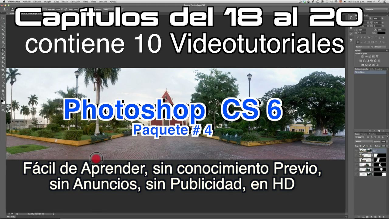 Photoshop CS 6 Capítulos 18 al 20 Paquete 4