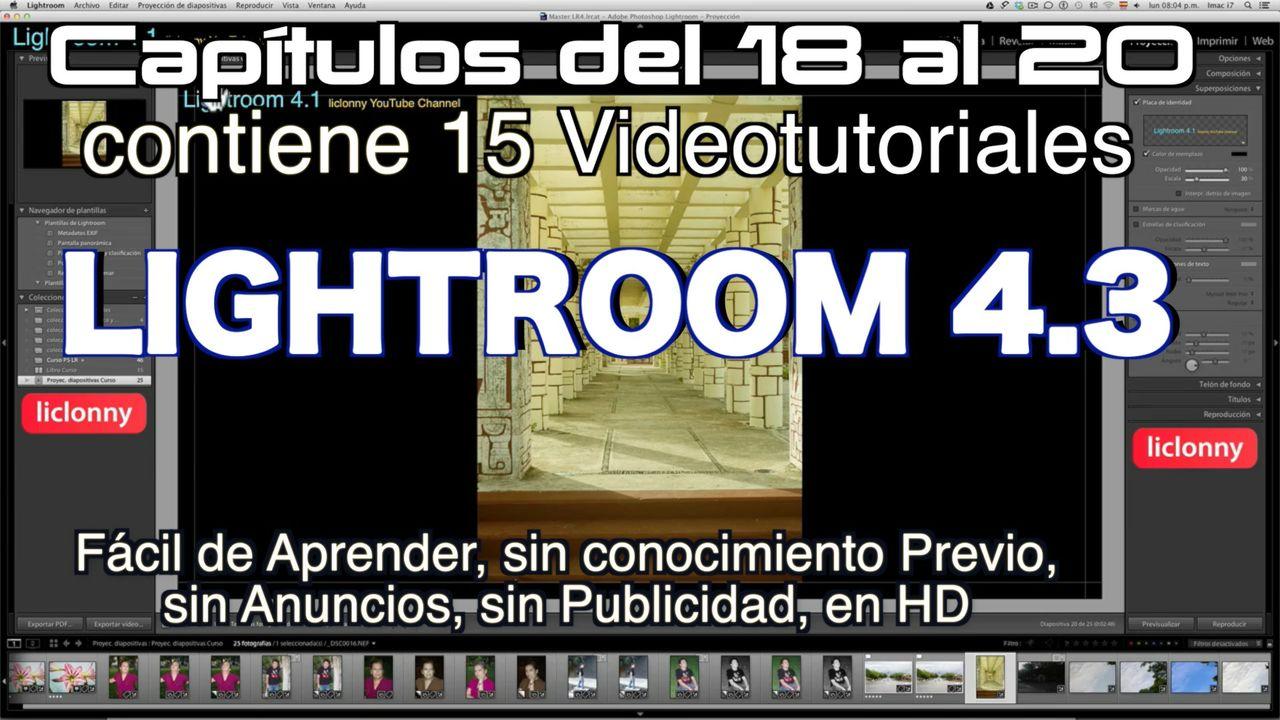 Lightroom 4.3 Capítulos 18 al 20 Paquete 5