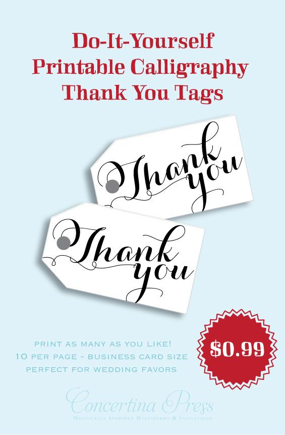 Print your own thank you tags by Concertina Press - Carolyna
