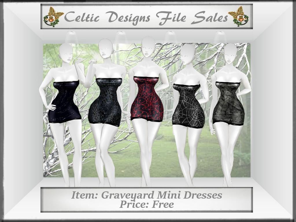 CD Graveyard Mini Dresses