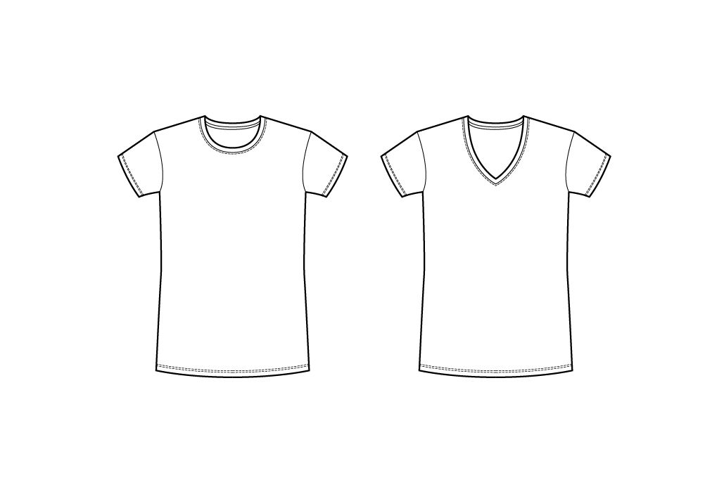 2 Basic Vector T-shirts - Fashion Templates