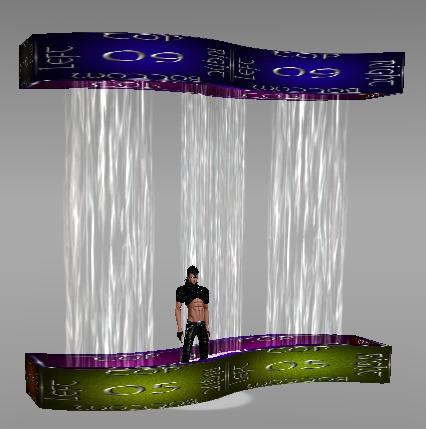 IMVU Curvy Fountain Mesh