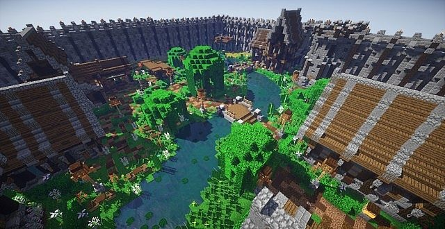 Spawn PvP Faction thème Village Medieval
