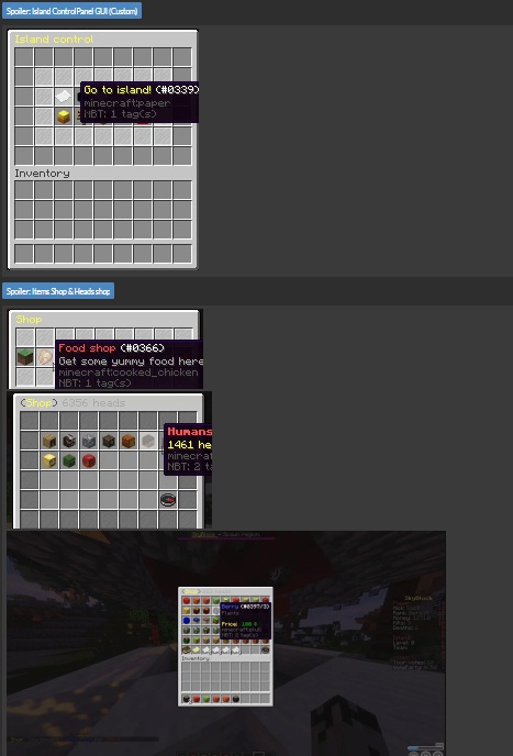 ✮ SkyBlock setup ✮ Heads Shop◦Custom Menus◦DailySpin & DailyRewards◦Custom Builds & more... 1.0