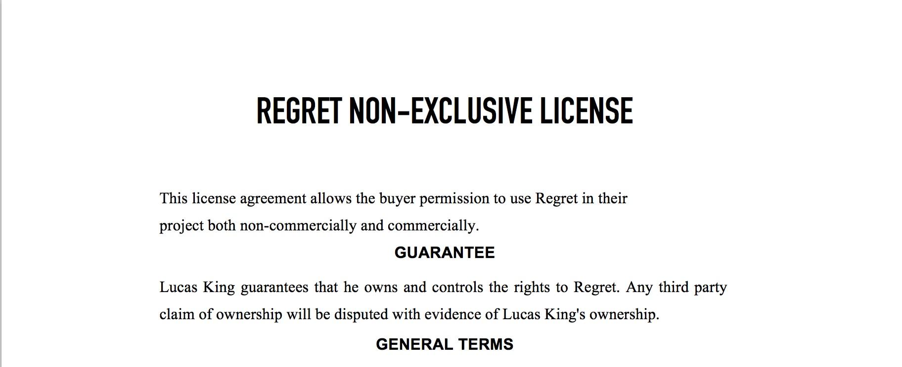 Sad Piano - Regret License