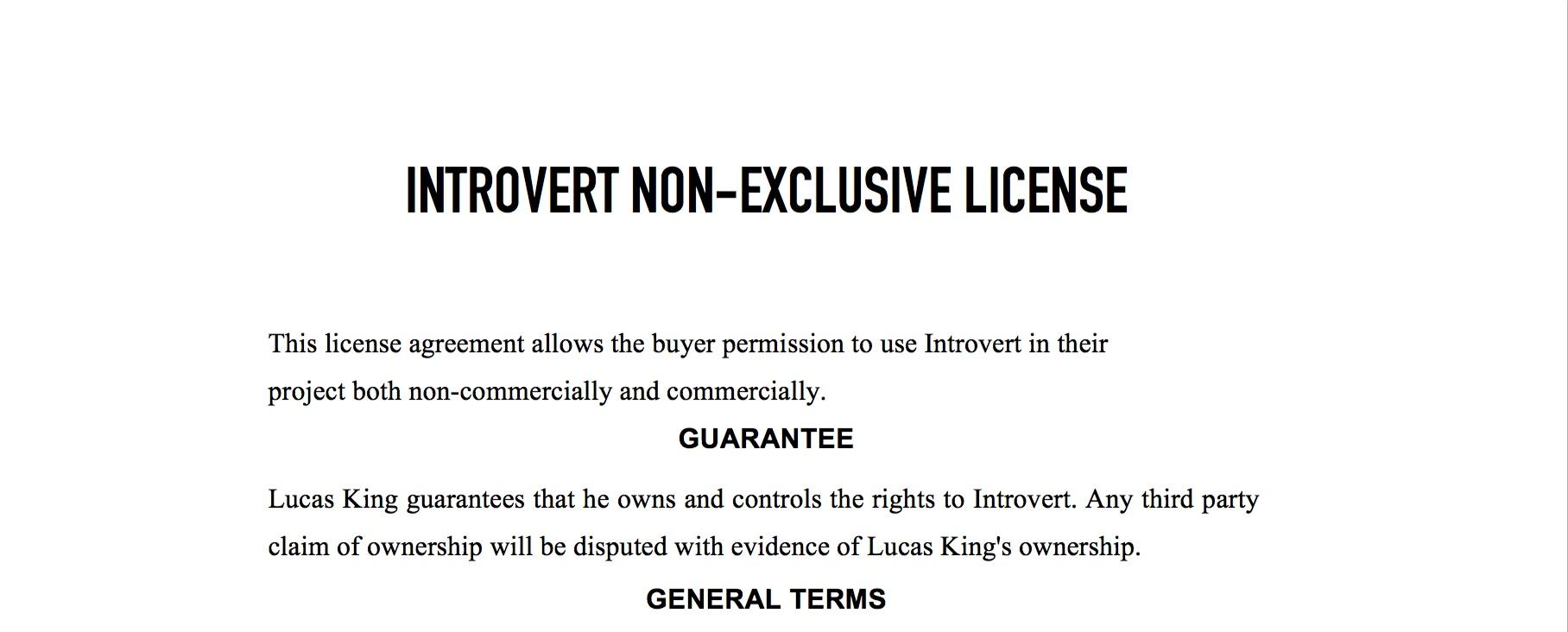 Sad Piano - Introvert License