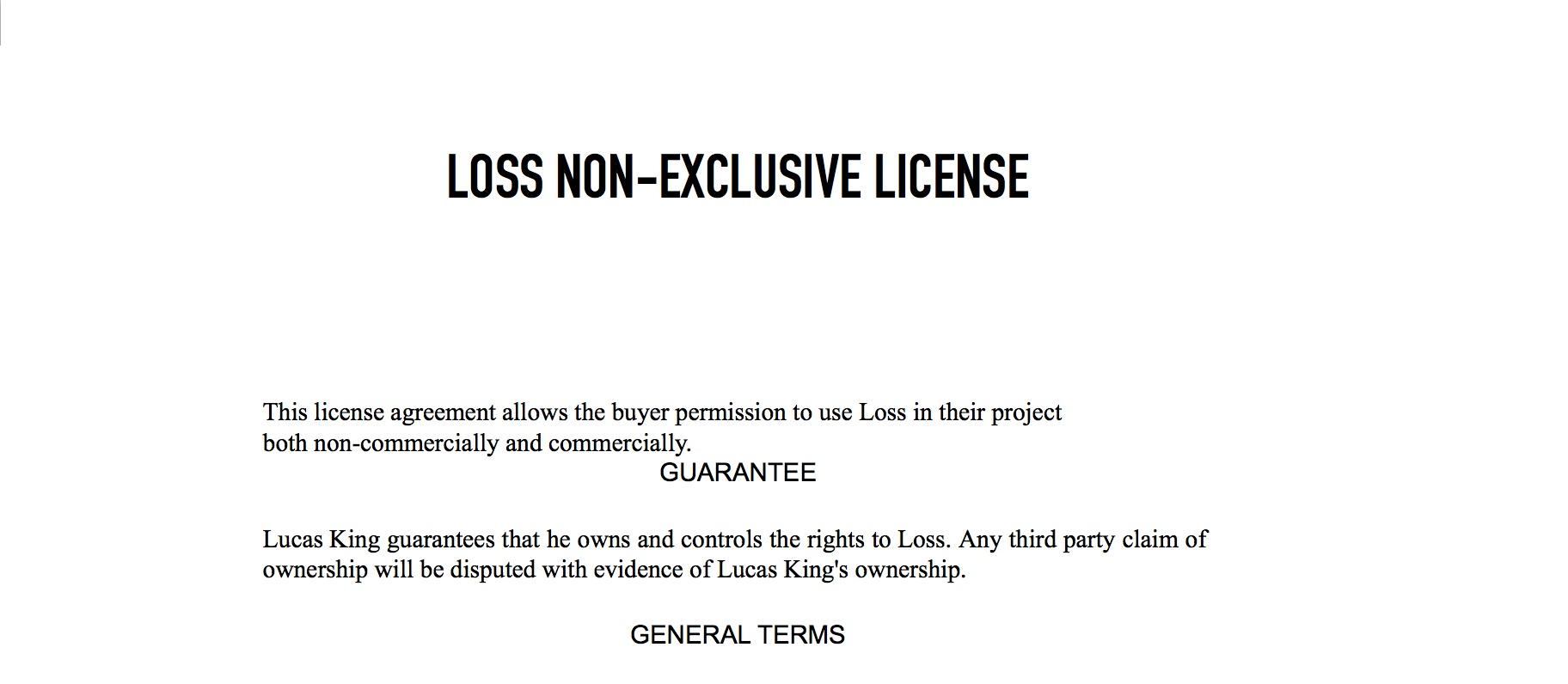 Sad Piano - Loss License
