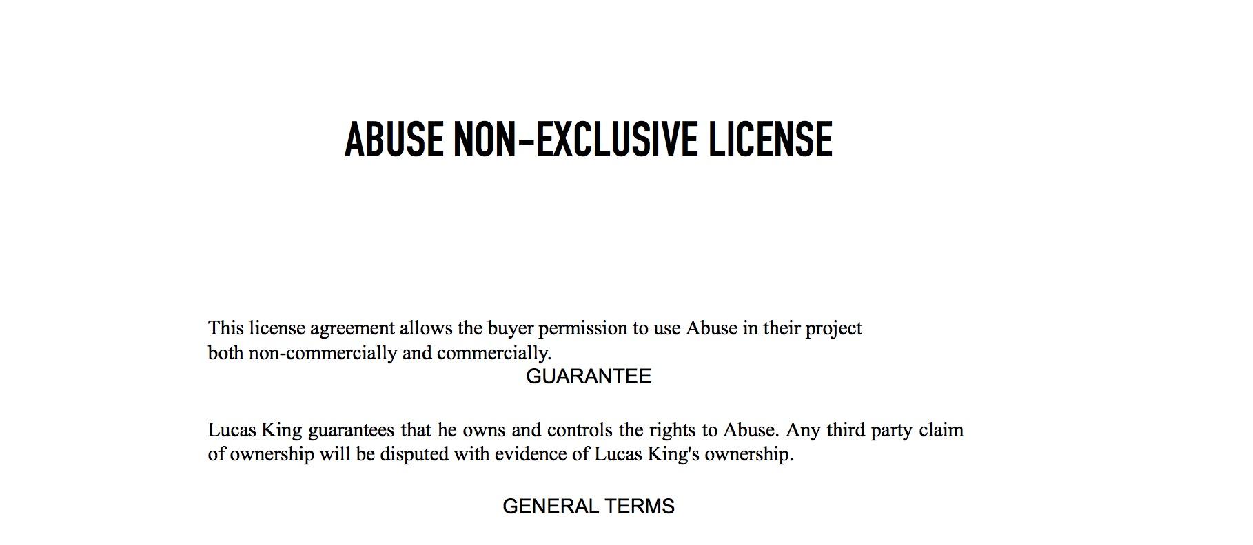 Sad Piano - Abuse License
