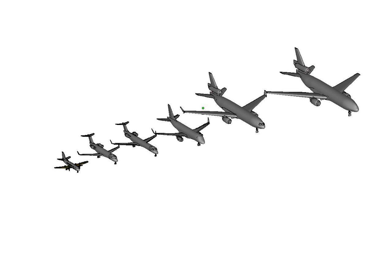 """Print Ready STL Airplanes at 1""""=40'"""
