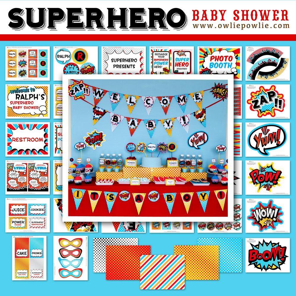 superhero baby shower owlie powlie