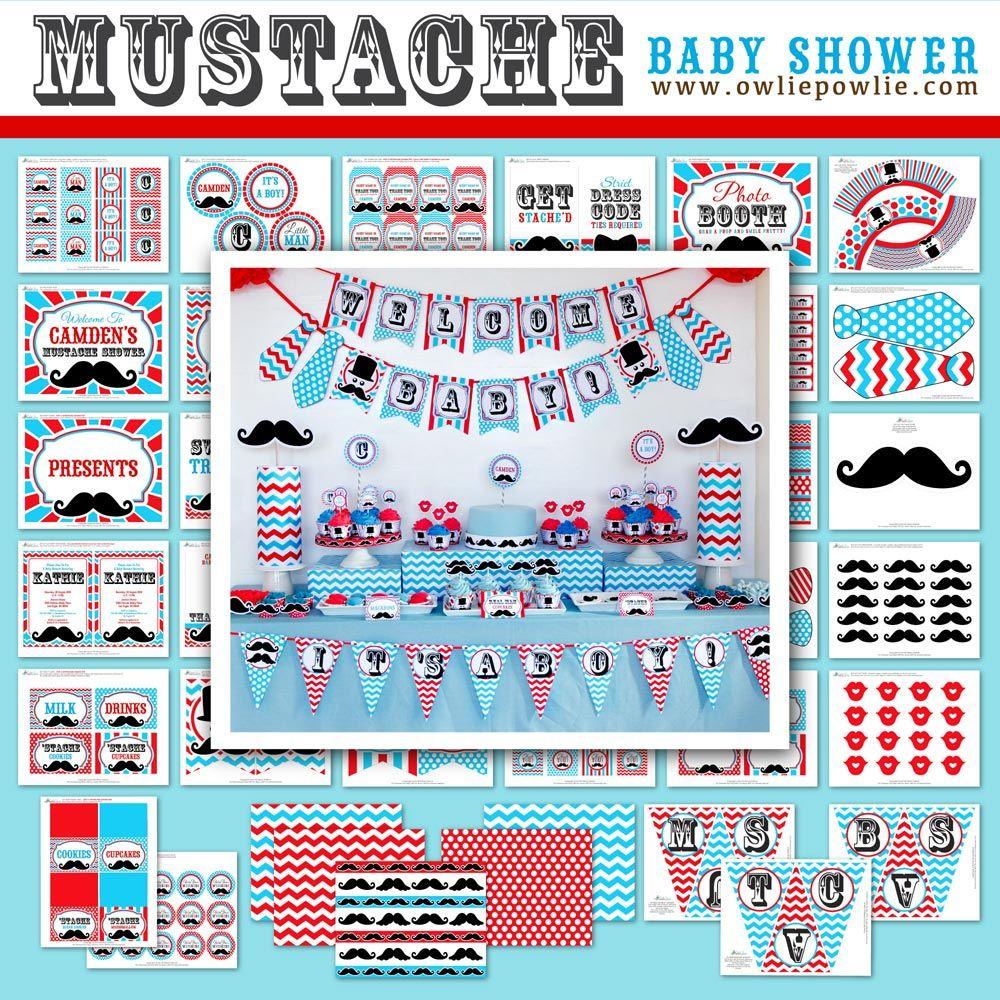 mustache baby shower owlie powlie