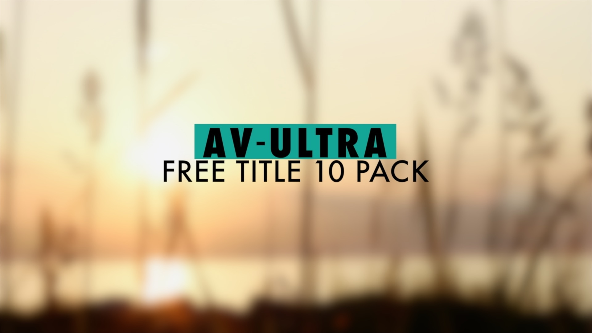 Free 10 Pack lower thirds and titles