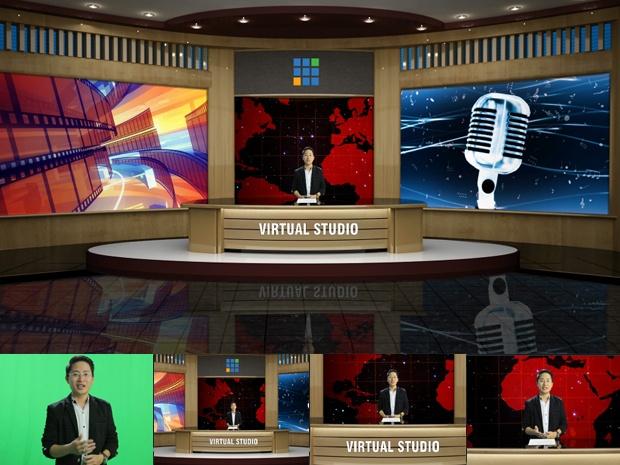 vMix Virtual Set Studio - Company style 01