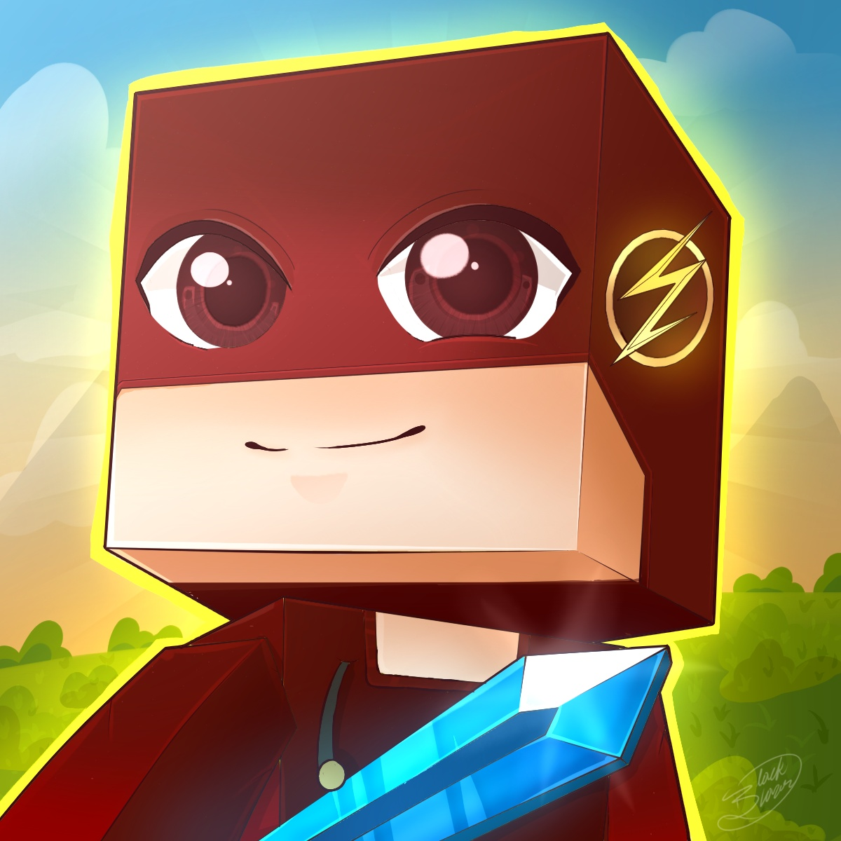 Drawing Minecraft profile picture pose