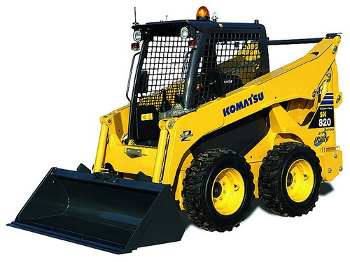 Komatsu SK818-5 / SK820-5 turbo Skid-Steer Loader Service Shop Manual(37BF50003 and up )