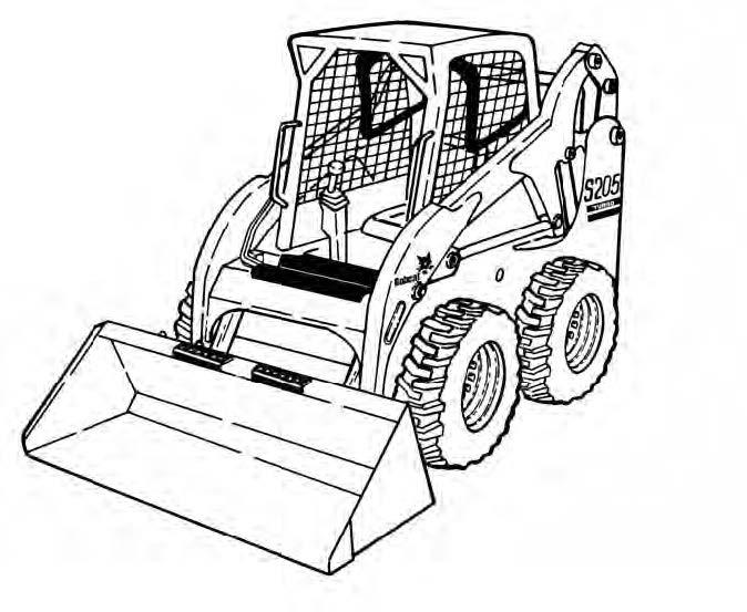 Bobcat S205 Skid-Steer Loader Service Repair Manual Download(S/N 530511001 - 530559999...)