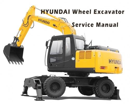 Hyundai R55W-7A Wheel Excavator Service Repair Manual Download