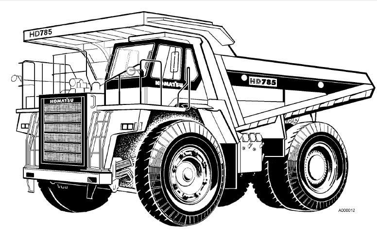 Komatsu HD785-5 HD985-5 Dump Truck Service Shop Manual