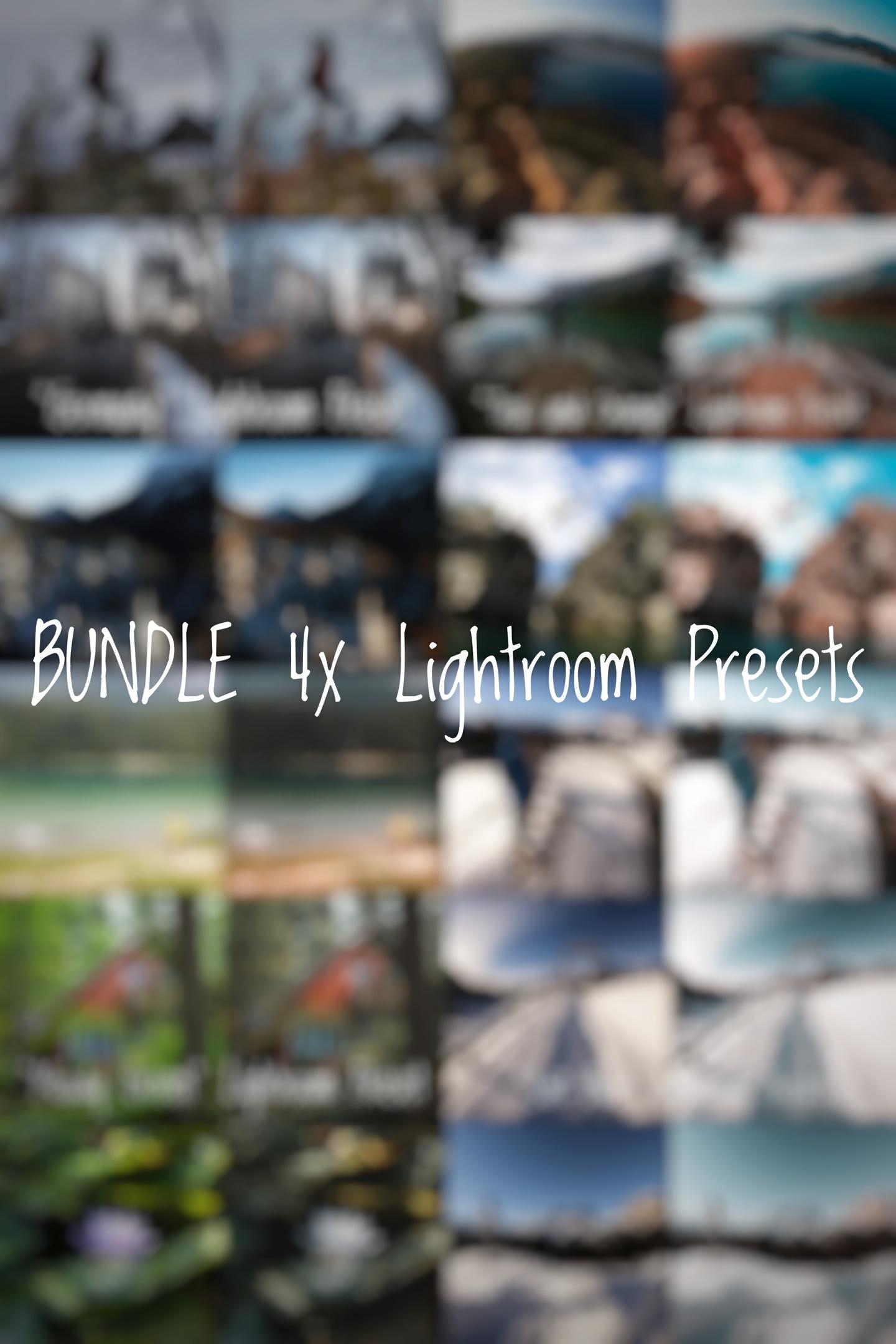 BUNDLE 4x Lightroom Presets by Sheck