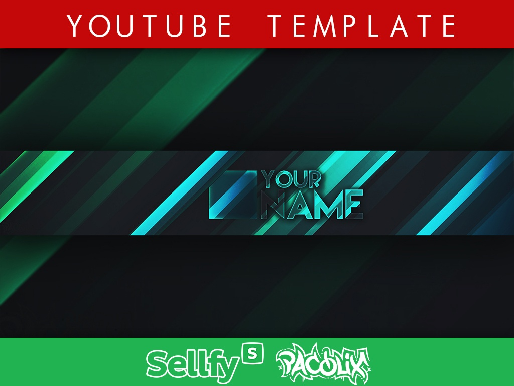 2D YouTube Banner Template [Pacolix]