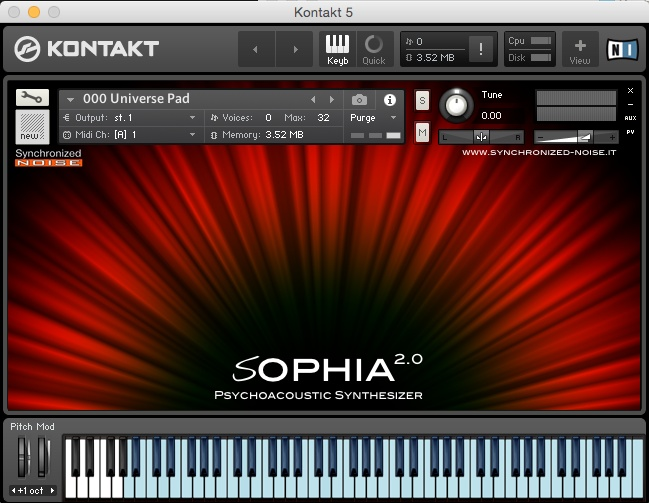 Sophia 2.0 Psycnhoacoustic Synthesizer
