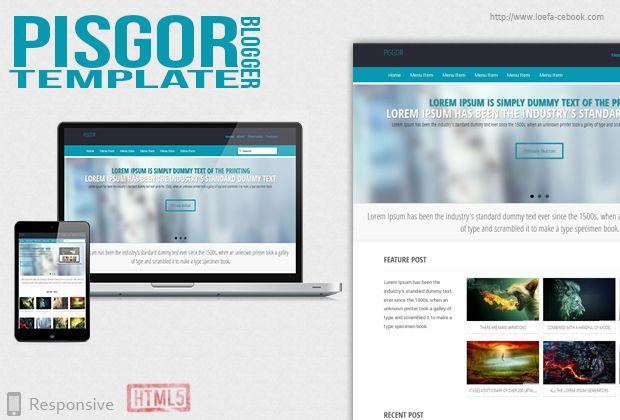 Pisgor Responsive Blogger Template