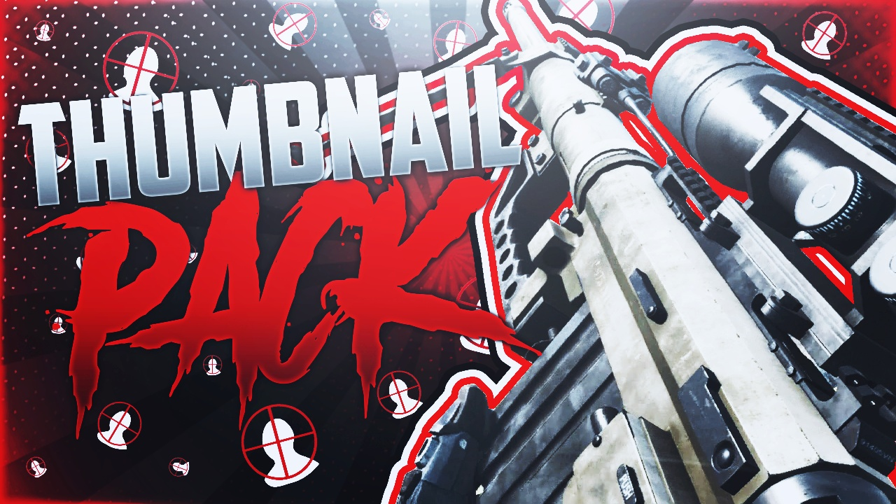 Youtube Thumbnail Template Pack Call Of Duty Snipers Acez Graphics Templates