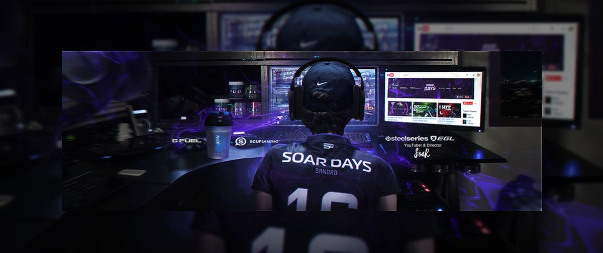 Header Gaming for SoaR Days   Template (PSD)