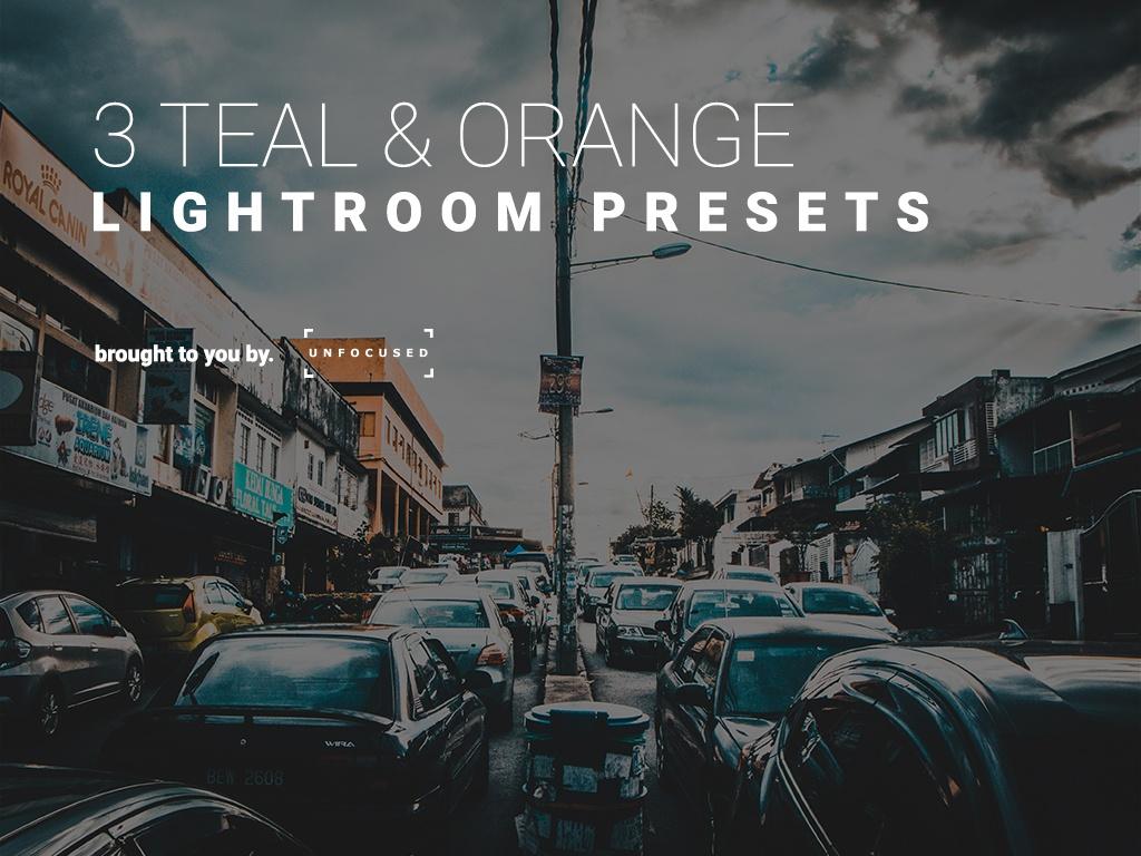 3 TEAL AND ORANGE - Lightroom presets