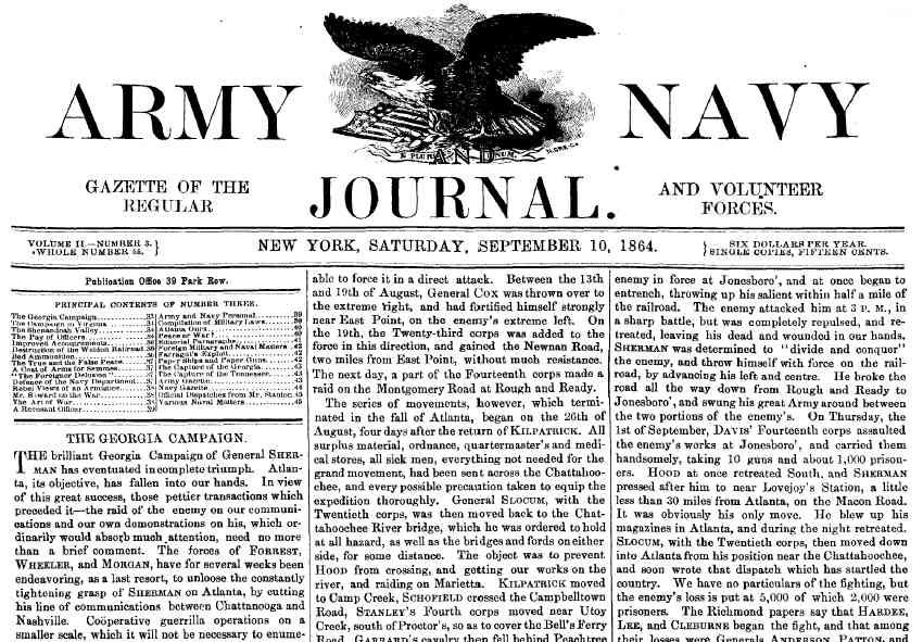 Civil War: Army Navy Journal & Gazette Volume 2