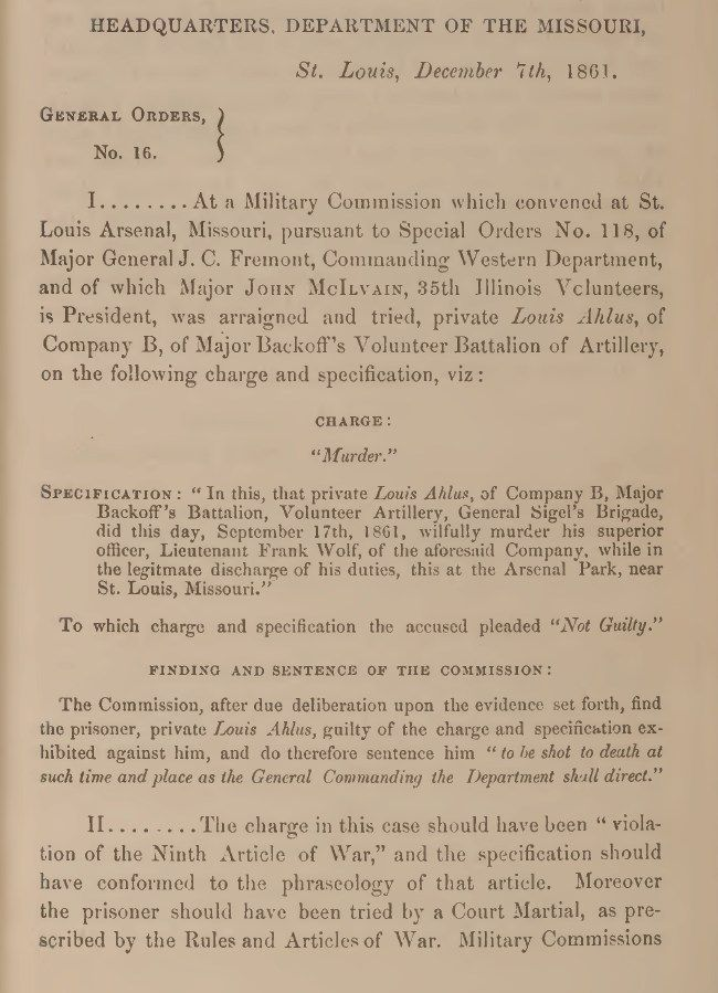 Civil War: U.S. Army Civil War and Reconstruction Era Court Martial Records