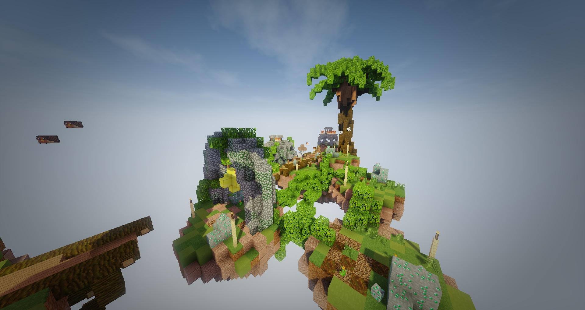Ancient Skyblock Spawn with PVP Arena