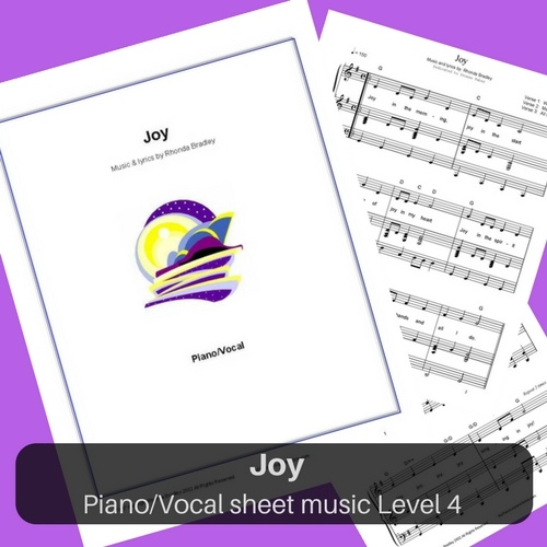 JOY piano sheet music level 4 for piano and voice