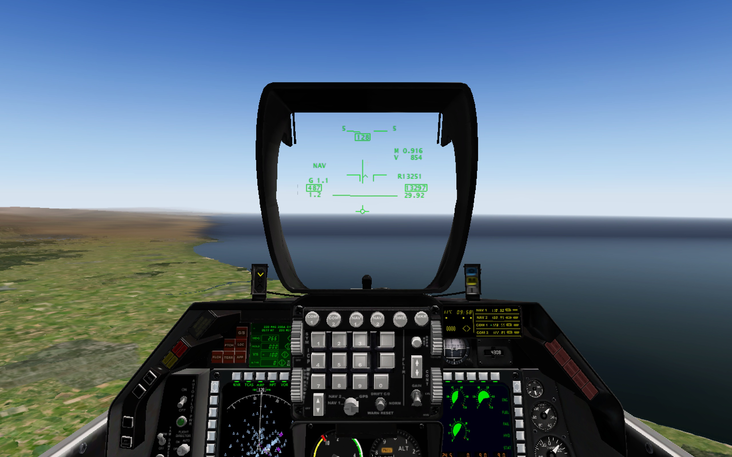 HUD for the JCS F-16 Fighting Falcon for X-Plane 10 flight simulator.