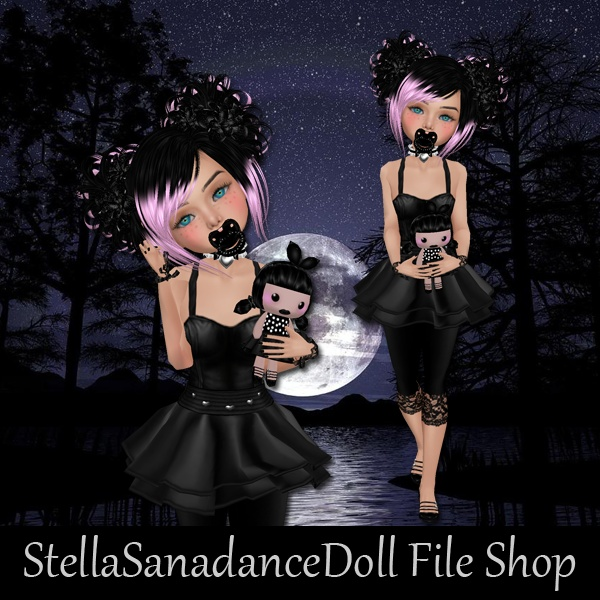 S229 Gothic Doll, NO RESELL