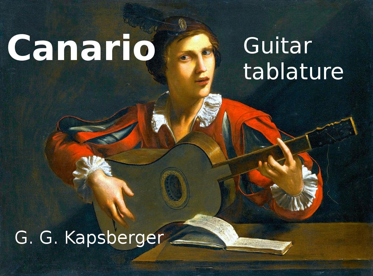 Canario (G. G. Kapsberger 1640) - Acoustic guitar tablature