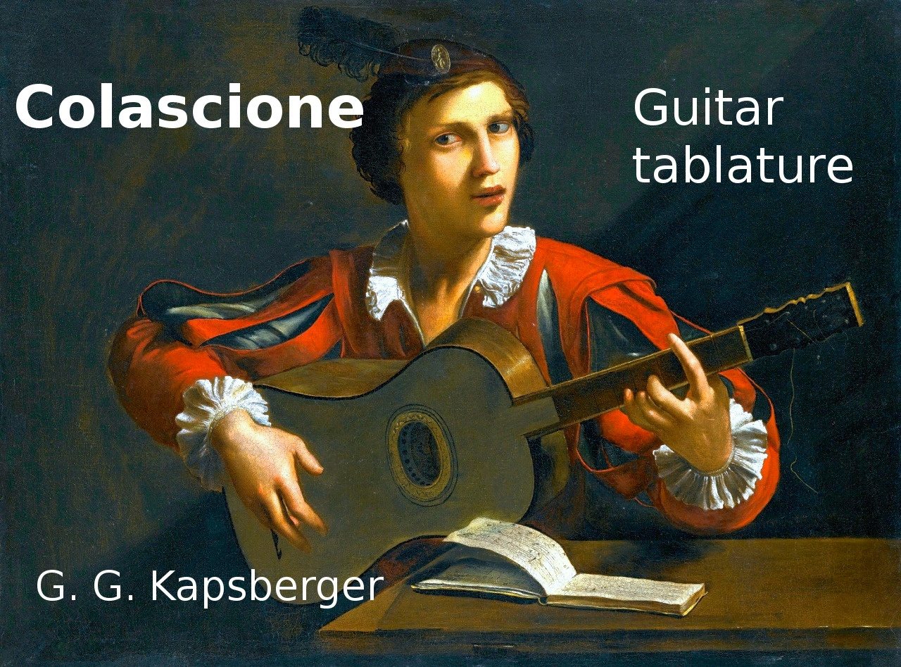 Colascione (Kapsberger) - Tablature for classical guitar
