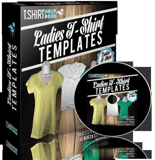 Ladies T-Shirt Templates