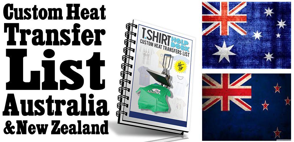AU & NZ Custom Heat Transfer List