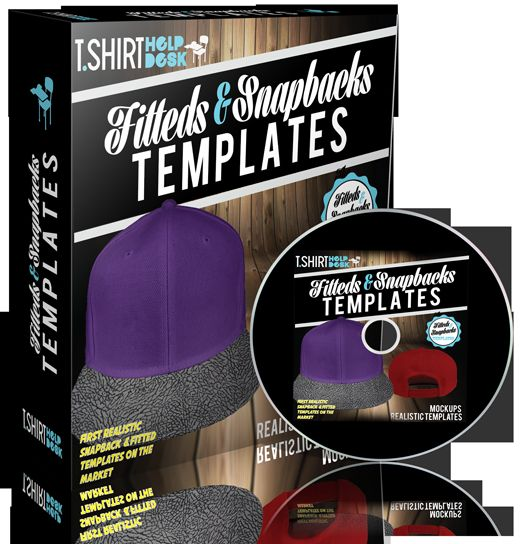 Fitted & Snapback Cap Templates