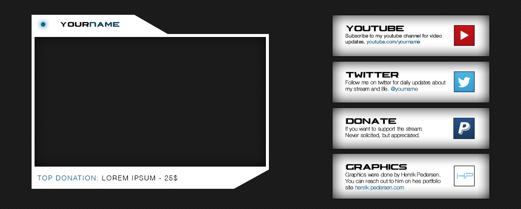 Twitch | Cam Frame and Description Tiles - Pack#2