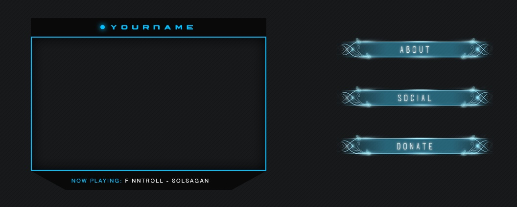 Twitch | Cam Frame and Description Tiles - Pack#1