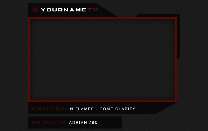 Twitch | Cam Frame Black/Red