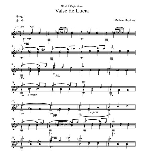 Valse de Lucia - Score / Partition